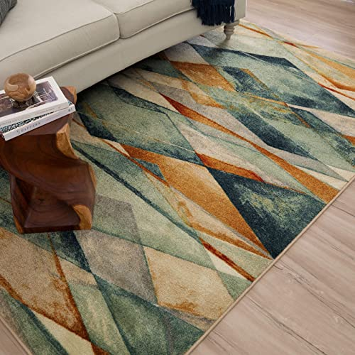 Mohawk Home New Wave Diamond Illusion Abstract Printed Area Rug, 7 6 x 10 , Multicolor
