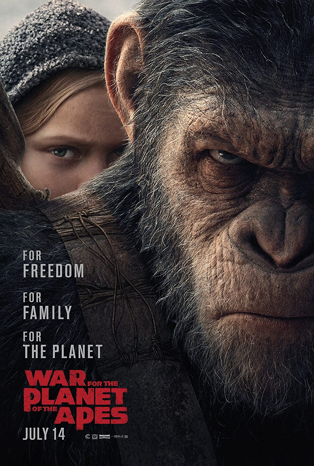 Amazon.com : War for the Planet of the Apes Movie Poster Limited ...