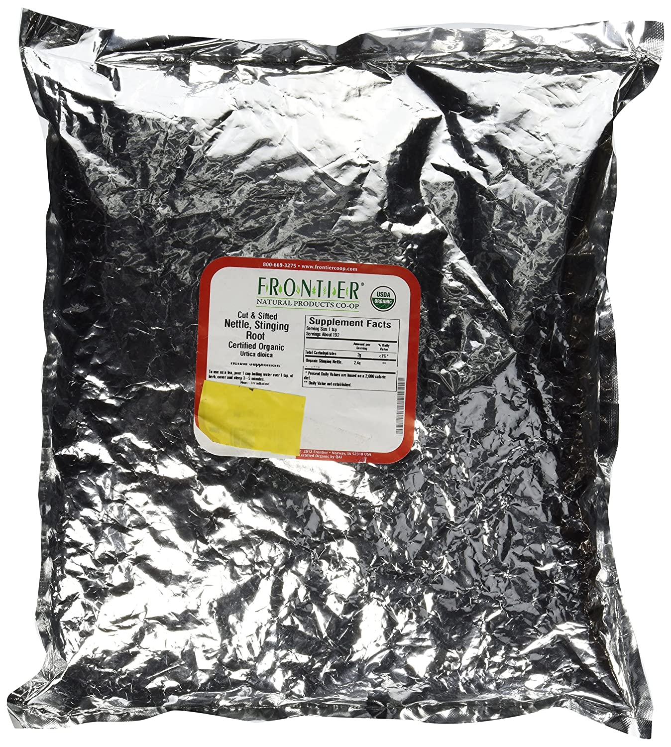 Bulk Nettle Root, Cut Sifted, Certified Organic Frontier Natural Products 1 lbs Bulk