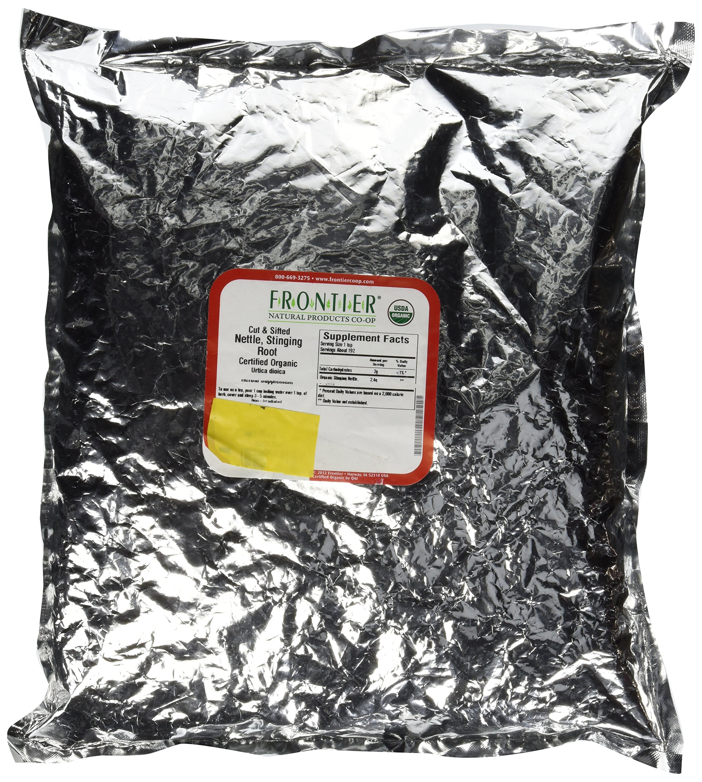 Bulk Nettle Root, Cut & Sifted, Certified Organic Frontier Natural Products 1 lbs Bulk by Frontier