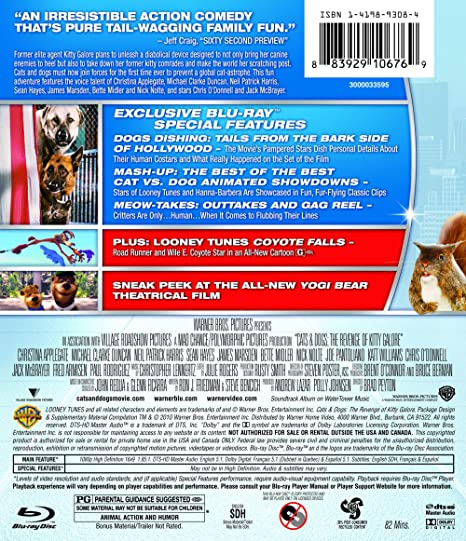0dab412063d4c3 Amazon.com  Cats   Dogs  The Revenge of Kitty Galore  Blu-ray   Chris  O Donnell