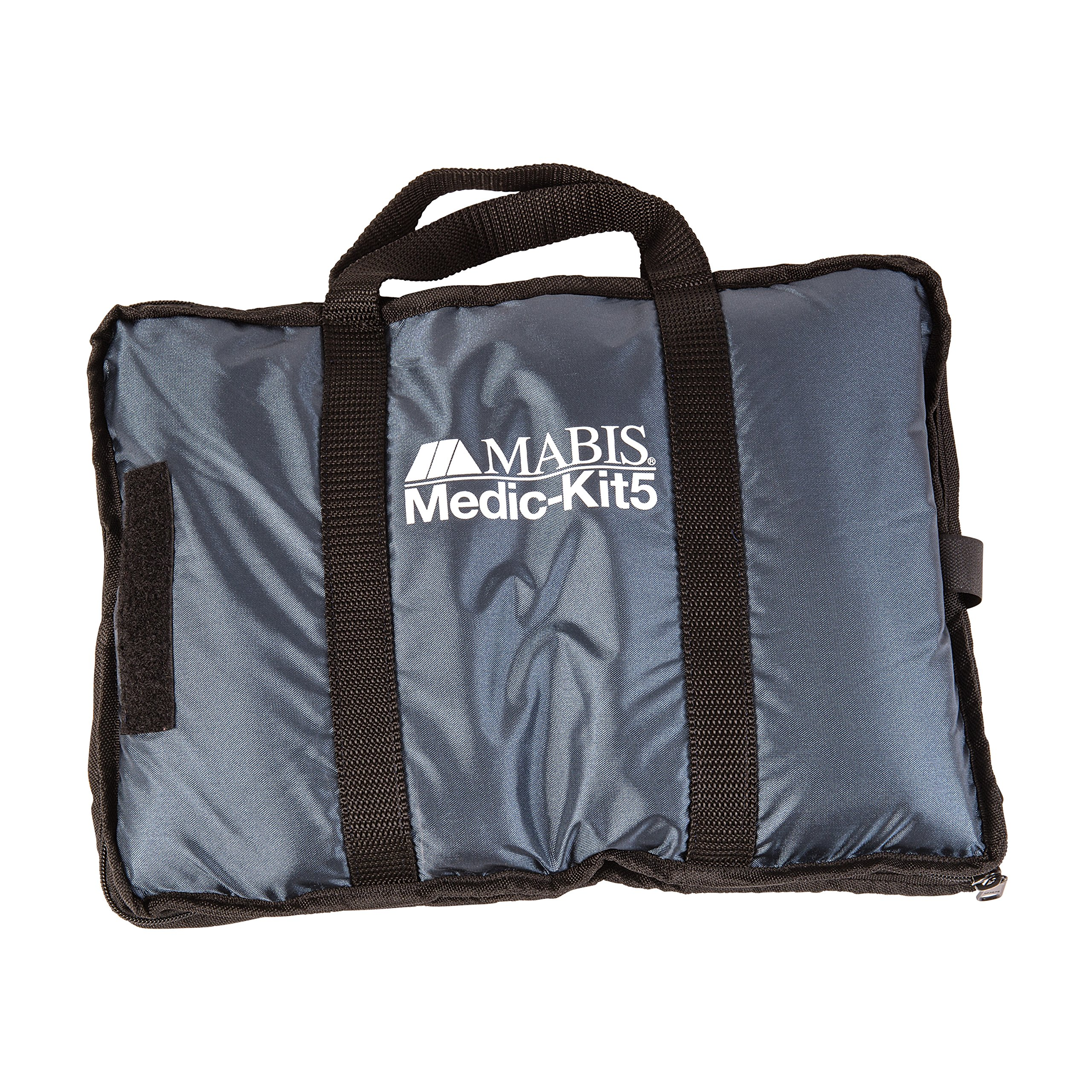 MABIS Medic-Kit5 EMT and Paramedic First Aid Kit with 5 Calibrated Nylon Blood Pressure Cuffs, Blue