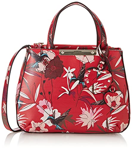 aae23f9f2069 Guess Women s HWFF6693050 Top-Handle Bag Red Red (Red Floral Red Floral)   Handbags  Amazon.com