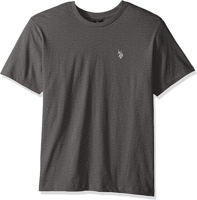 U.S. Polo Assn. Mens Crew Neck Small Pony T-Shirt, Campus Heather ...