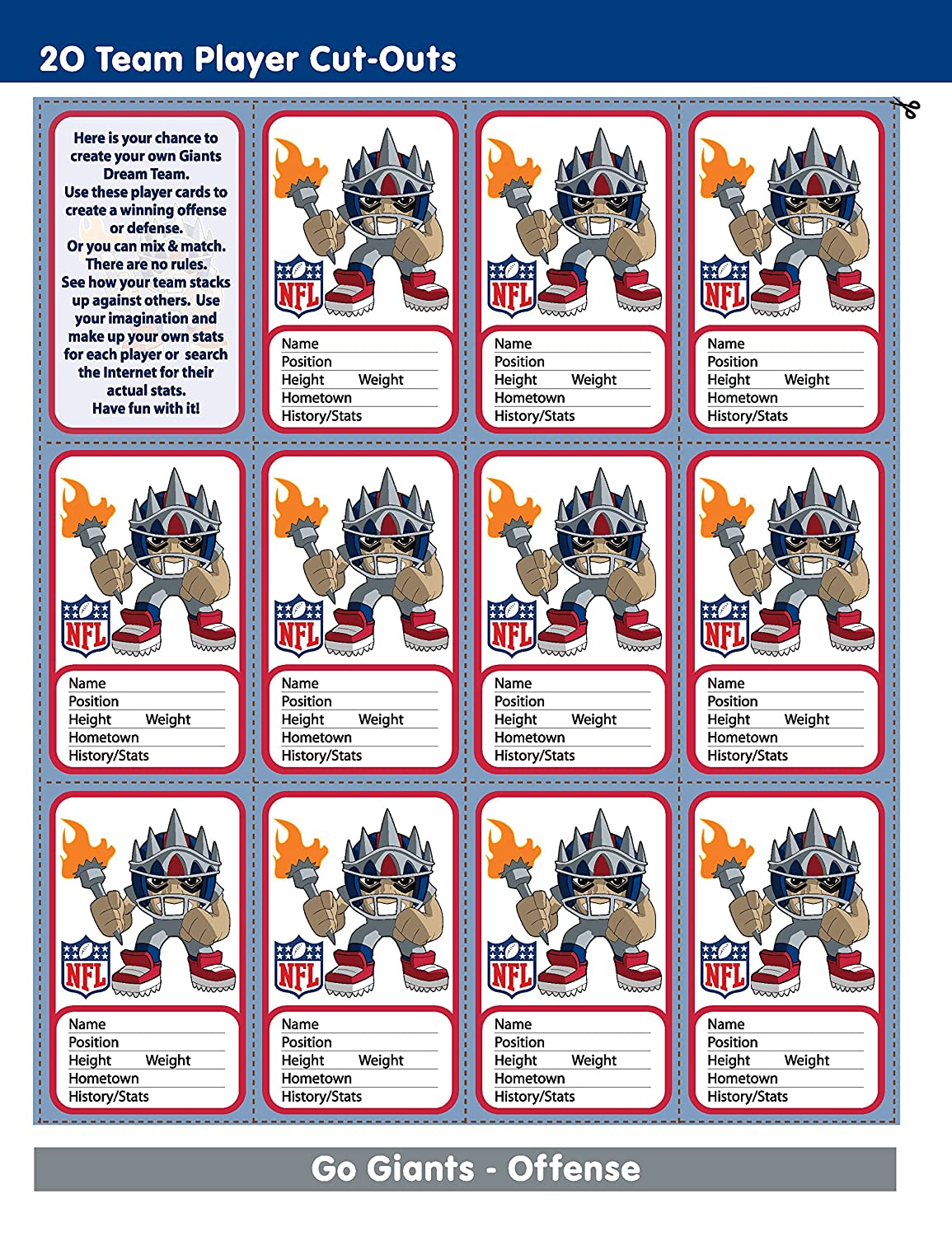 In The Sports Zone NFL New York Giants Activity Book/Blue/White/One Size