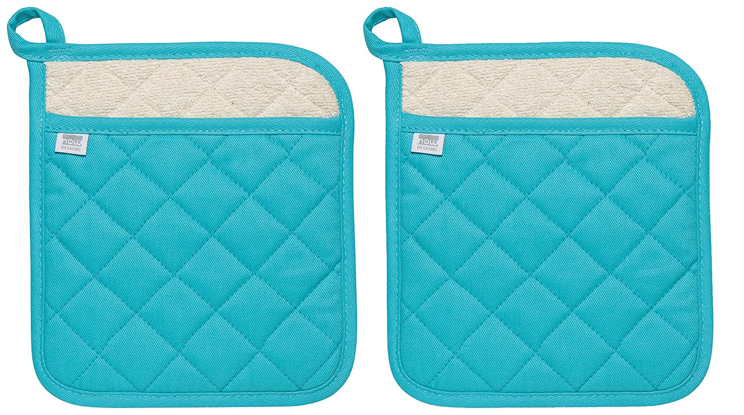 Set of Two Bali Blue Now Designs Superior Potholders