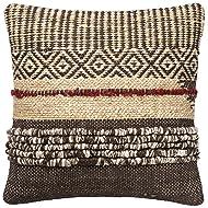 "Loloi DSET DSETP0286BRREPIL3 Decorative Accent Pillow, 22"" x 22"", Brown/Red"