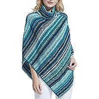 Spicy Sandia Ponchos for Women Fringe Zig Zag Knit Poncho Sleeveless Pullover Soft Wrap