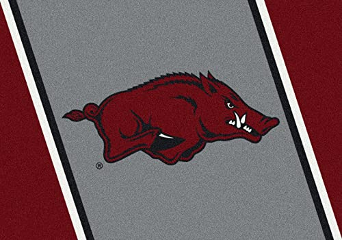 Arkansas Razorbacks Running Razorback 3 10 x 5 4 Team Spirit Area Rug