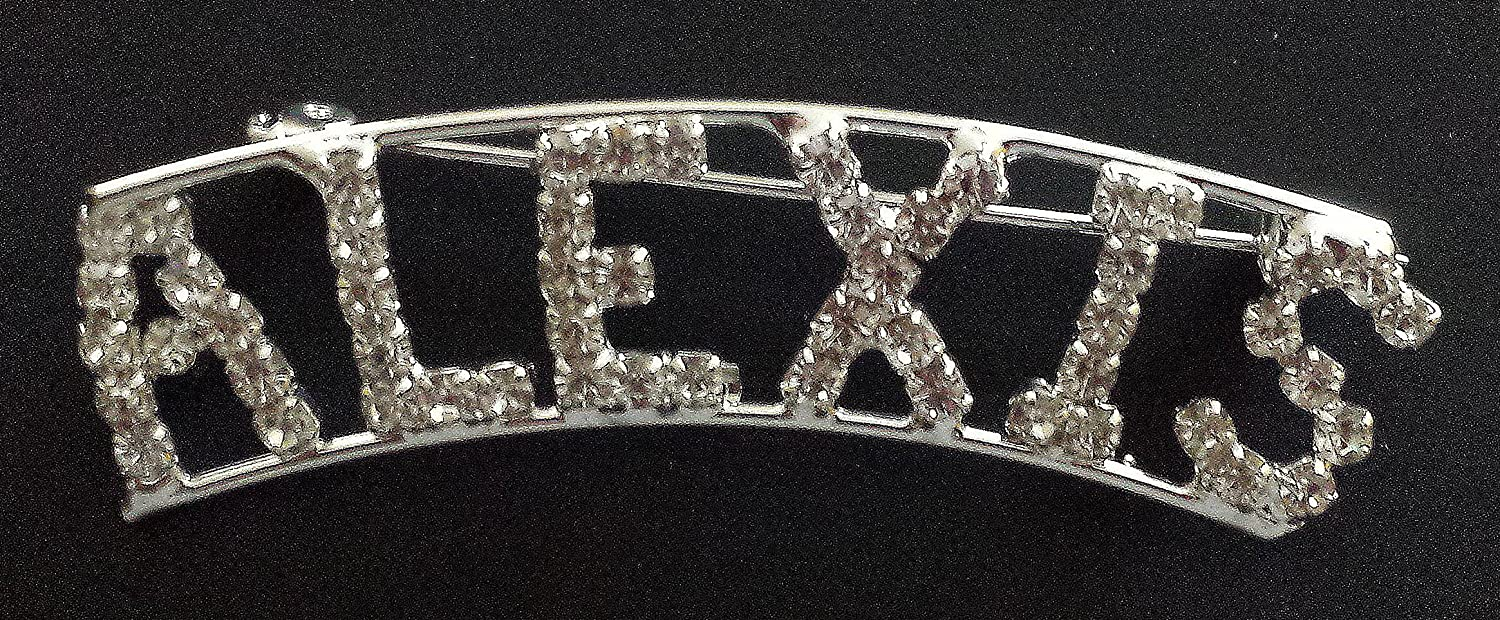 Personalized Rhinestone Alexis Name with a Magnet Back By Detti Originals