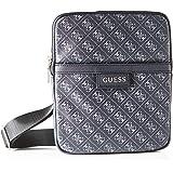 Guess Dan Logo Mini Flat Crossbody Bags Briefcase Hombre, Black, Talla única