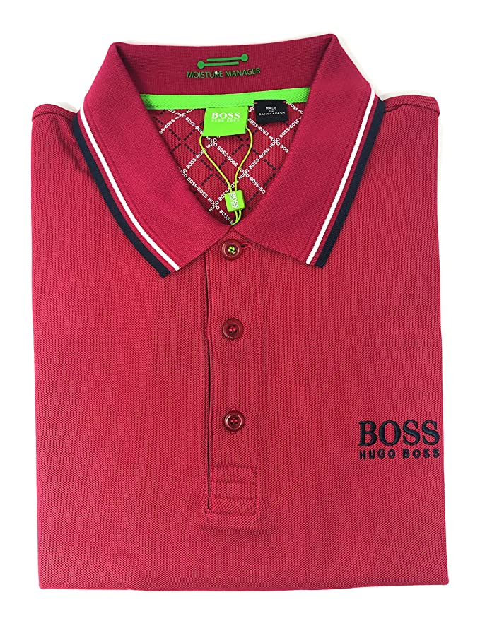 18e05b35 Amazon.com: Hugo Boss Mens Paddy Moisture Manager Pro Edition Polo Shirt  50249000: Clothing