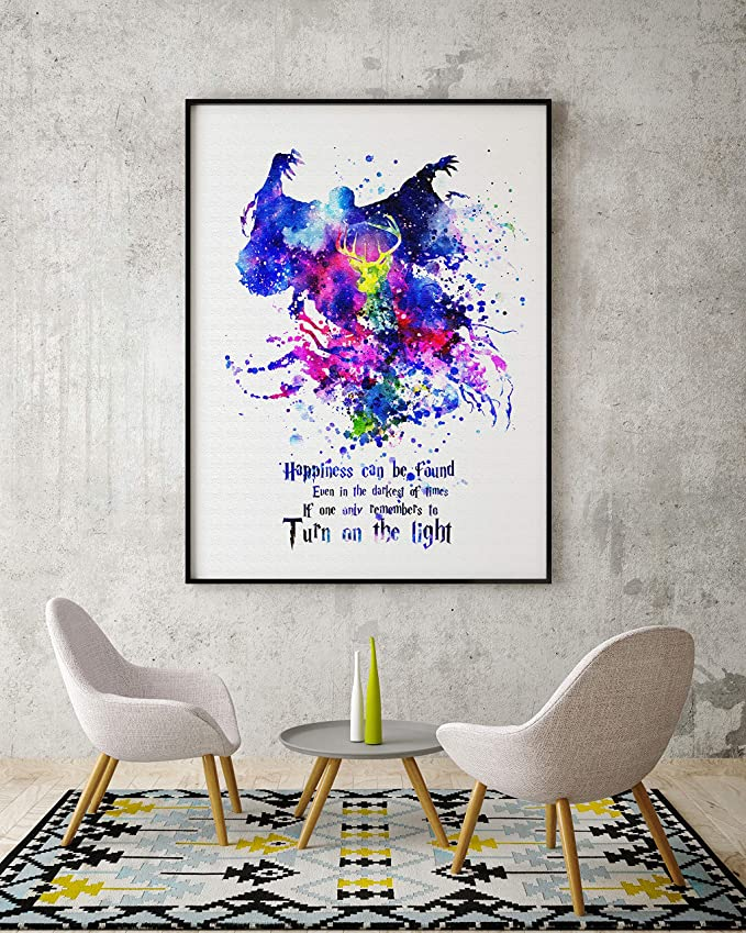 Uhomate Little Miss Muffet Harry Potter Quote Art Print Nursery Wall Decor C029