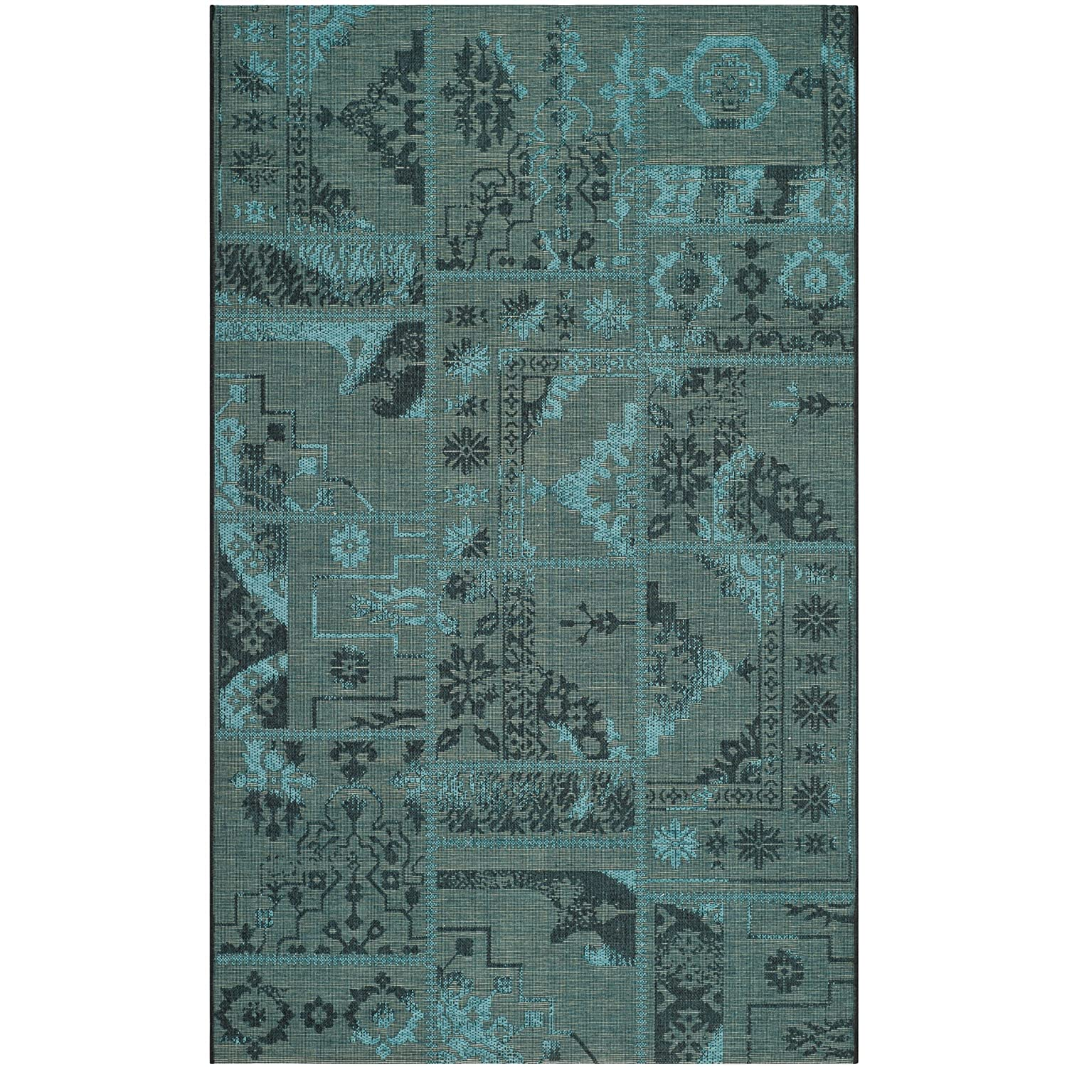 Safavieh Palazzo Collection PAL121-56C10 Black and Green Area Rug, 2 feet by 3 feet 6 inches (2' x 3'6) PAL121-56C10-2