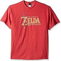 Nintendo Men's Zelda Breath of The Wild Link Basic Logo T-Shirt