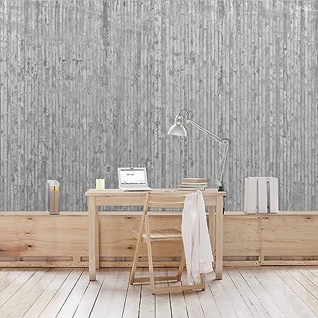 APALIS Concrete Wallpaper Non-Woven Concrete Look Wallpaper with Stripes Photo Wallpaper Wide \u2013 Grey & APALIS Concrete Wallpaper Non-Woven Concrete Look Wallpaper with ...