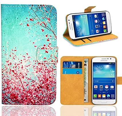 Samsung Galaxy Grand Neo Plus Funda, FoneExpert® Wallet Flip Billetera Carcasa Caso Cover Case Funda de Cuero Para Samsung Galaxy Grand Neo Plus i9060 ...