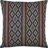"""Amazon Brand – Stone & Beam Mojave-Inspired Decorative Throw Pillow Cover and Insert, 20"""" x 20"""", Blue and Red"""