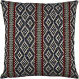 "Stone & Beam Mojave-Inspired Decorative Throw Pillow Cover, 20"" x 20"", Blue and Red"