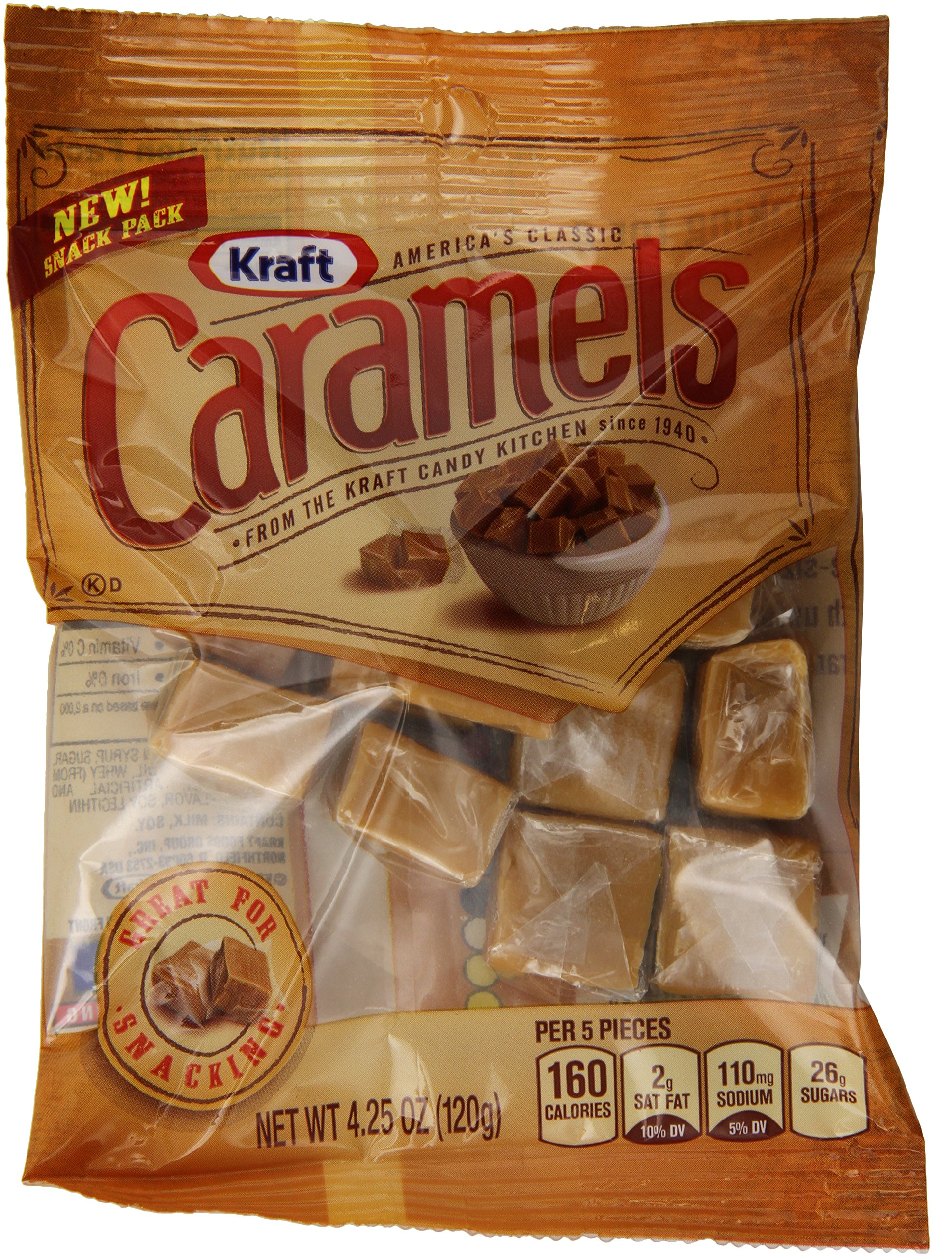 Amazon.com : Kraft Caramels, Fudgies Chocolate, 4 Ounce ...