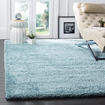 Safavieh Milan Shag Collection SG180 6060 Aqua Blue Area Rug 10 X 14