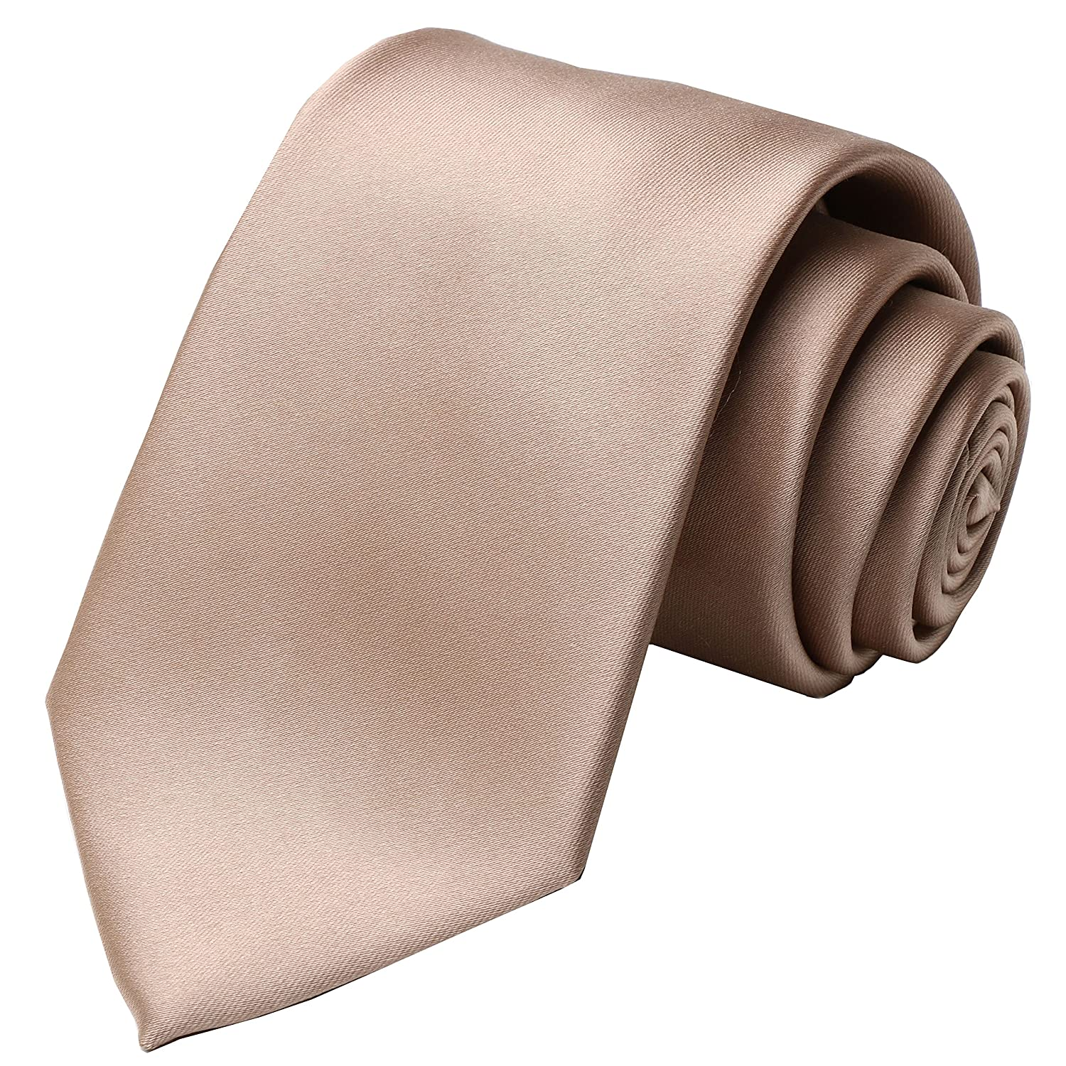 KissTies 4PCS Men's Tie Solid Color Neckties Wedding Ties + 1 Magnetic Box KT1012131583