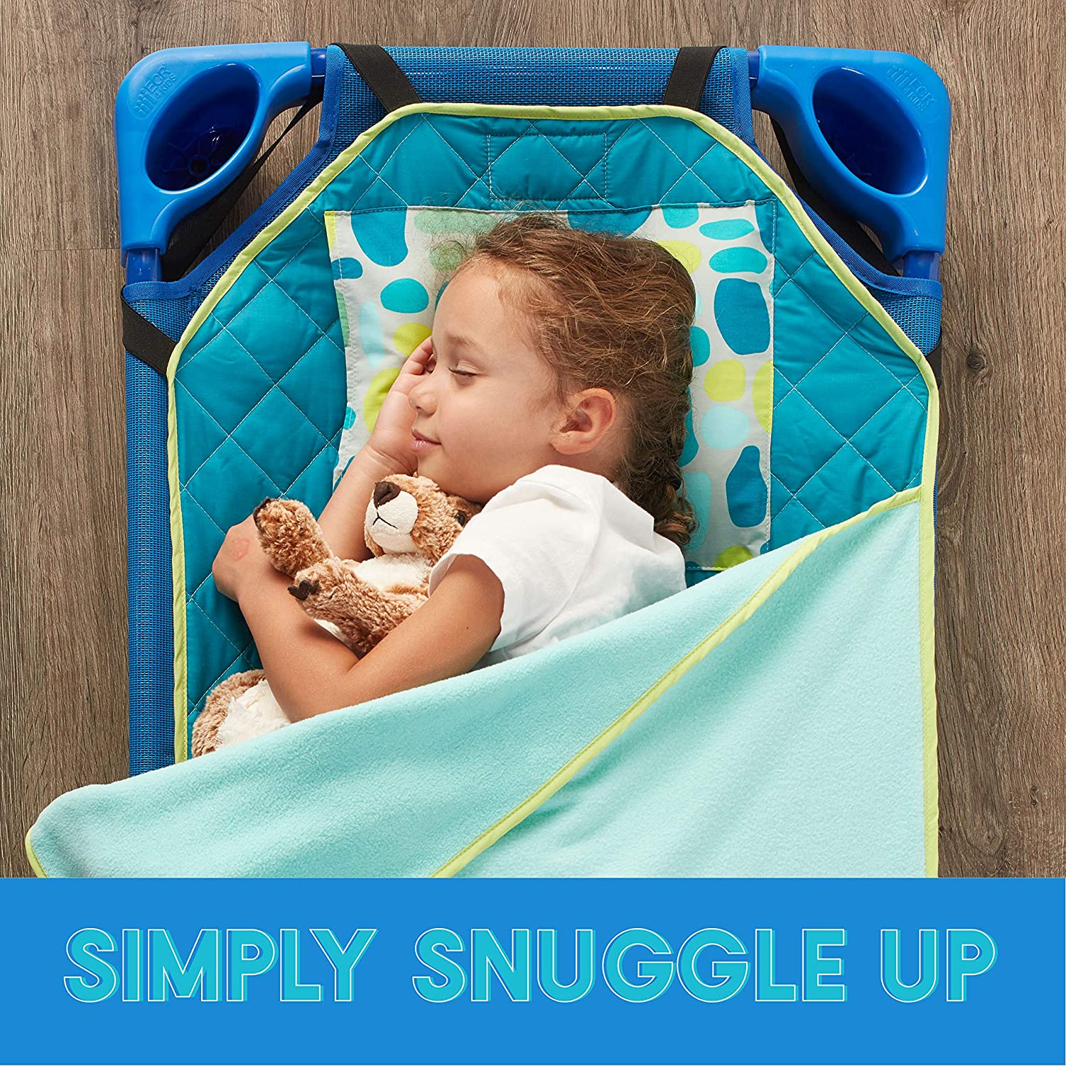 All-in-One Nap Bundle with Liner ECR4Kids Toddler Nap Mat Companion Blanket and Pillow Loopty Loop Pattern
