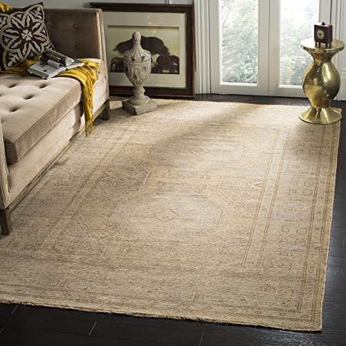 Safavieh Izmir Collection Gold and Grey Premium New Zealand Wool Area Rug, 6 x 9 ,