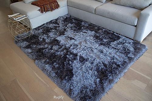 LA Rug Linens Brand Epic Model 8×10 Feet Area Rug Dark Gray Grey Color 1 Per Pack