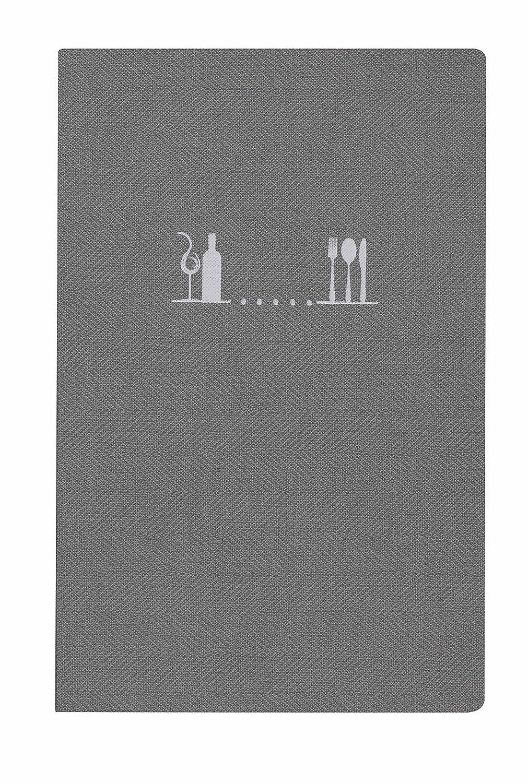 19/´5x23/´5 cm A5 Termosellado en color blanco Lacor Francis collection 28233- Porta men/ú fabricado en Simil-Piel con atornillado interior
