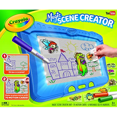 Crayola Magic Scene Creator, Drawing Kit for Kids, Creative Toys, Ages 3, 4, 5, 6, 7: Toys & Games