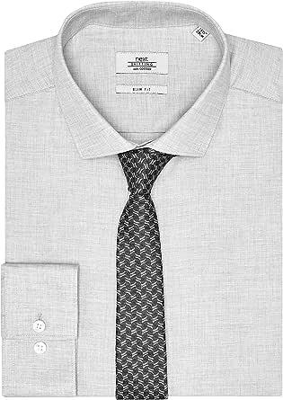 next Hombre Juego De Corbata Y Camisa Entallada Gris Marga Gris Cuello 45.5 cm Long: Amazon.es: Ropa y accesorios