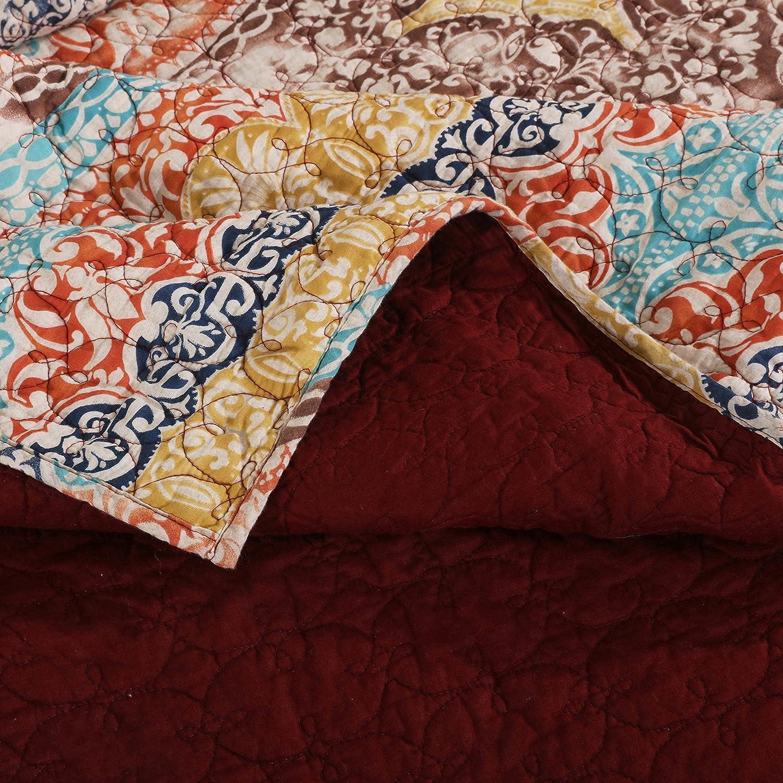 Kess InHouse EBI Emporium Irradiated Multi 1 Red Olive Round Beach Towel Blanket