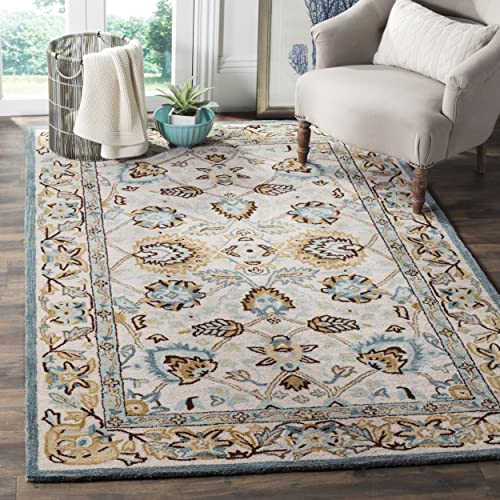 Safavieh Antiquities Collection AT812B Handmade Traditional Peacock and Blue Area Rug 9'6″ x 13'6″