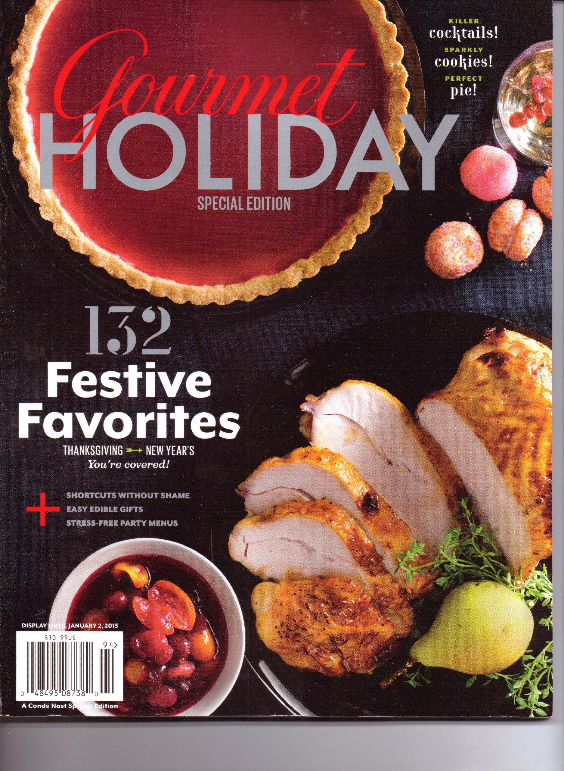 Gourmet HOLIDAY Special Edition Magazine. 2012. Unknown Binding – 2012 3de9b67015fd