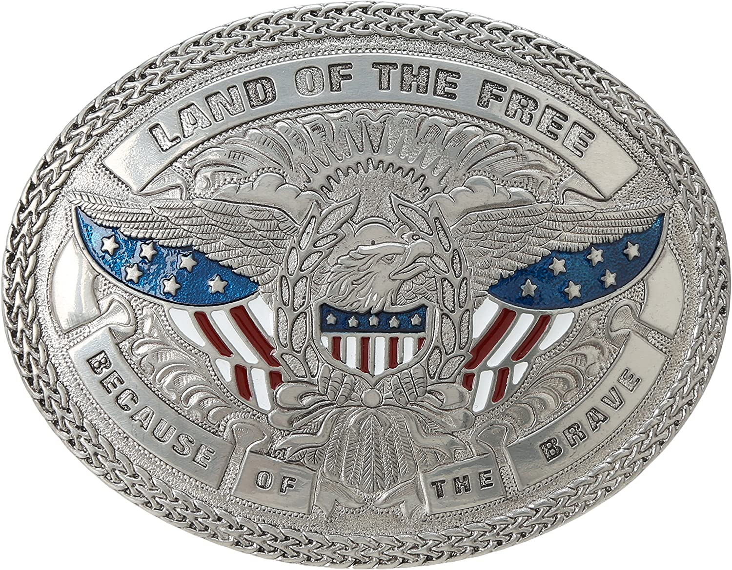 Nocona Mens Land of The Free Eagle Buckle
