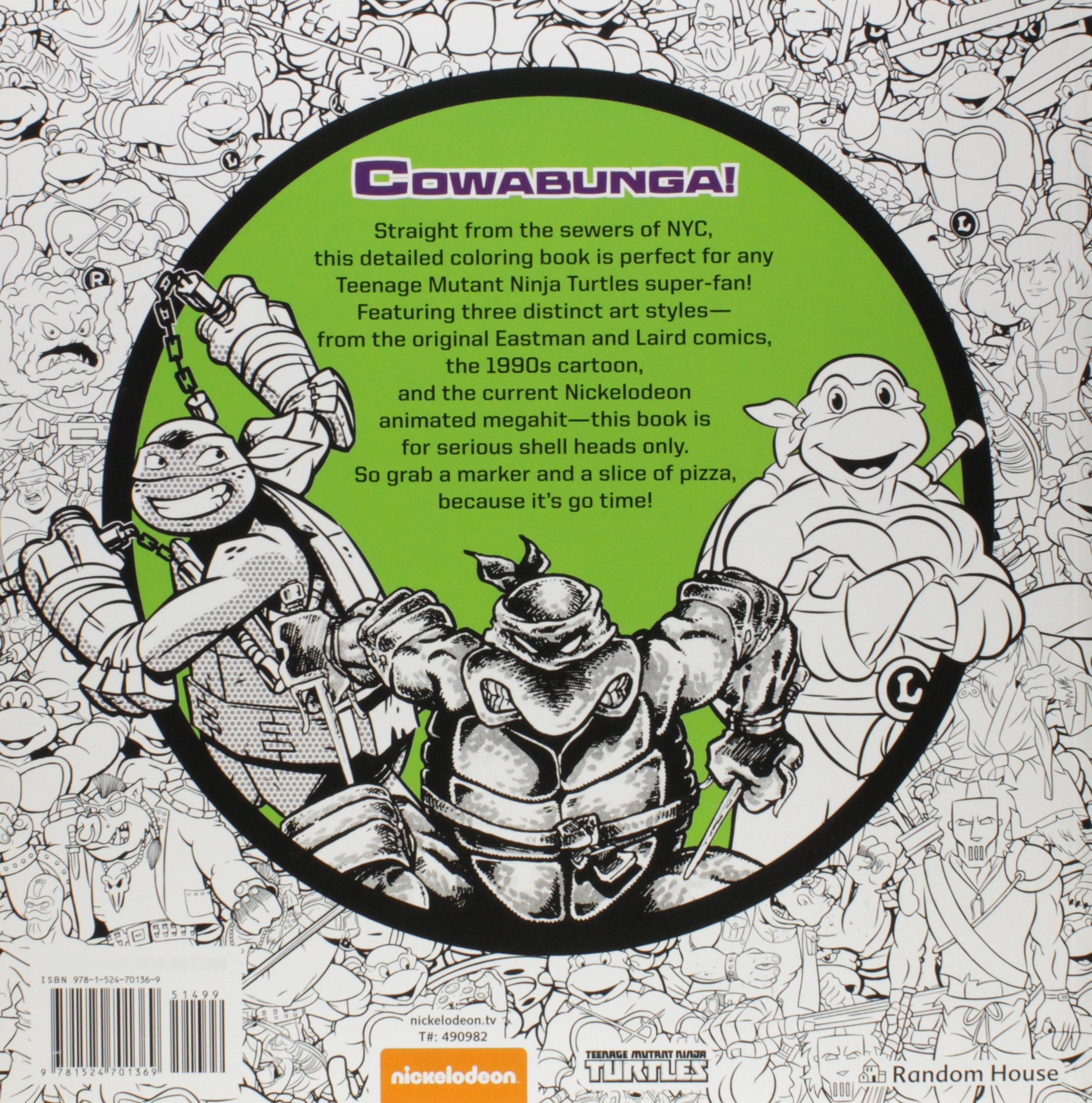 Kickin it Old School Coloring Book Teenage Mutant Ninja ...