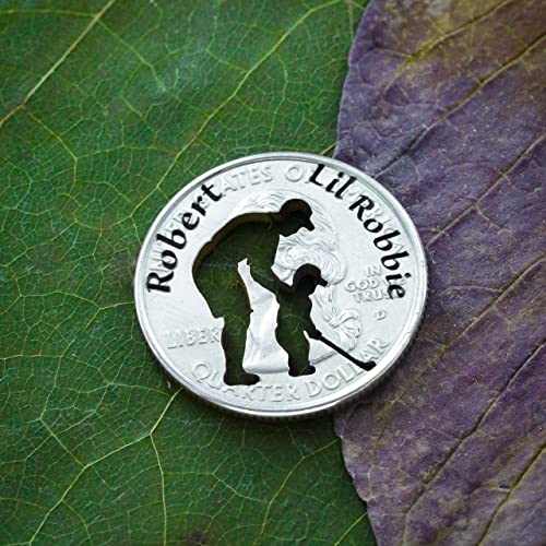 Amazon.com: Dad and Child Golf Ball Marker, Custom Names Engraved, By NameCoins: Handmade
