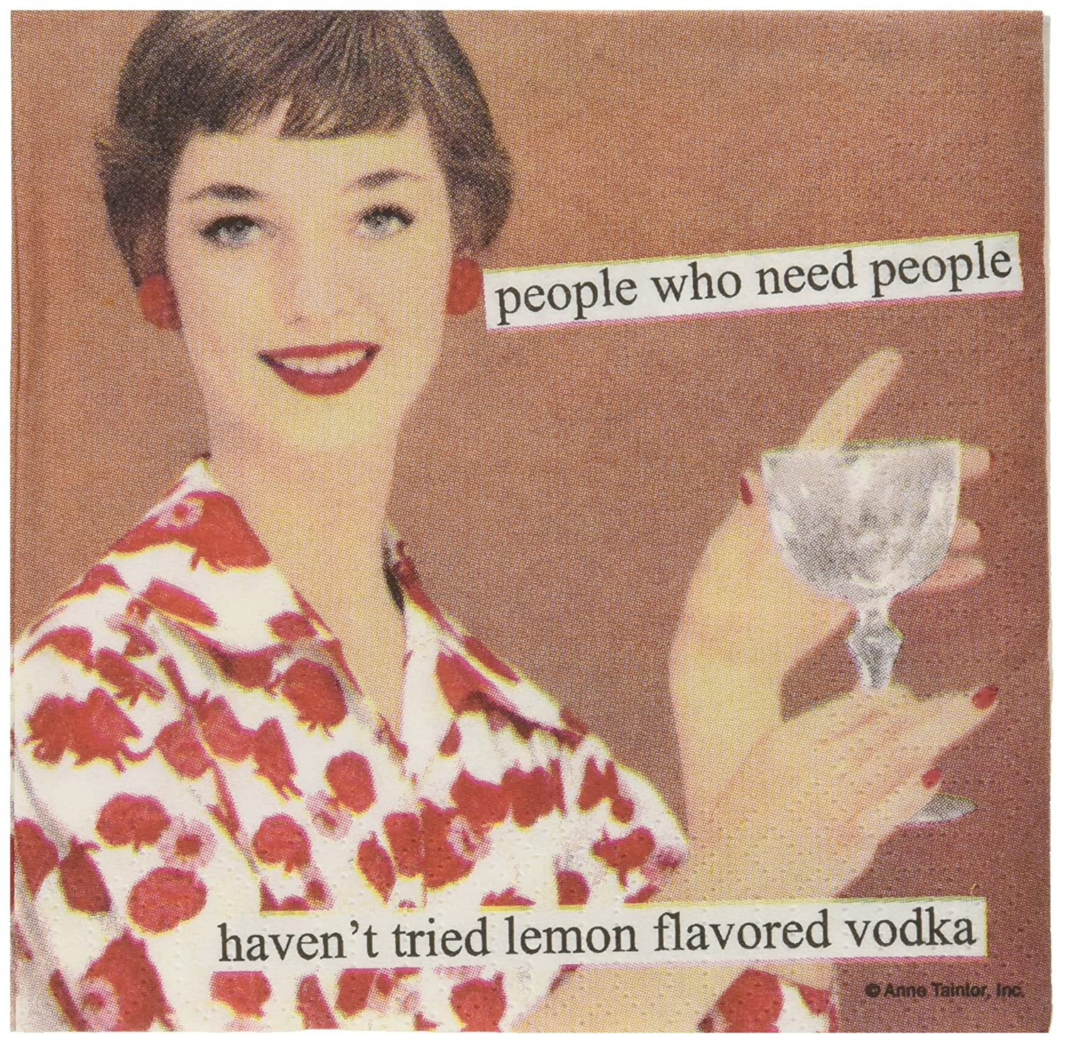 PPD Paperproducts Design People Who Need People Haven't Tried Lemon Vodka Party/Cocktail / Beverage Napkins 1251611