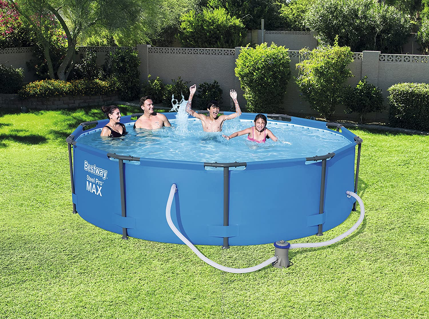 Bestway 10ft x 30 inch Steel Pro Max Frame Pool Set With Filter Pump ...