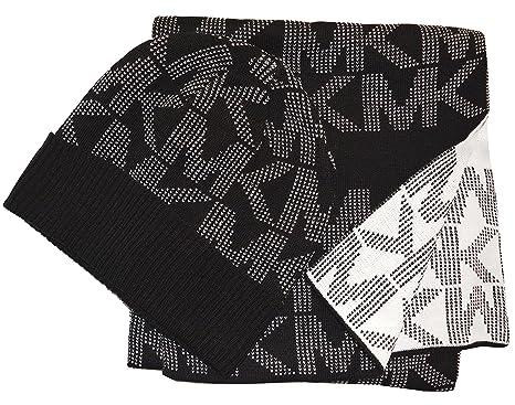 ff986843ba343 Michael Kors Jumbo Pin Dot Logo Knit Scarf   Hat Michael Kors Jumbo MK Pin  Dot