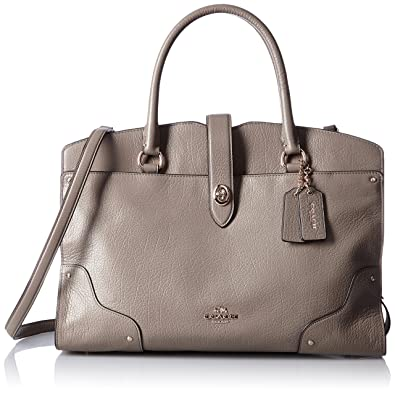 8ffc89984457 COACH Mercer Satchel In Grain Leather Fog: Handbags: Amazon.com
