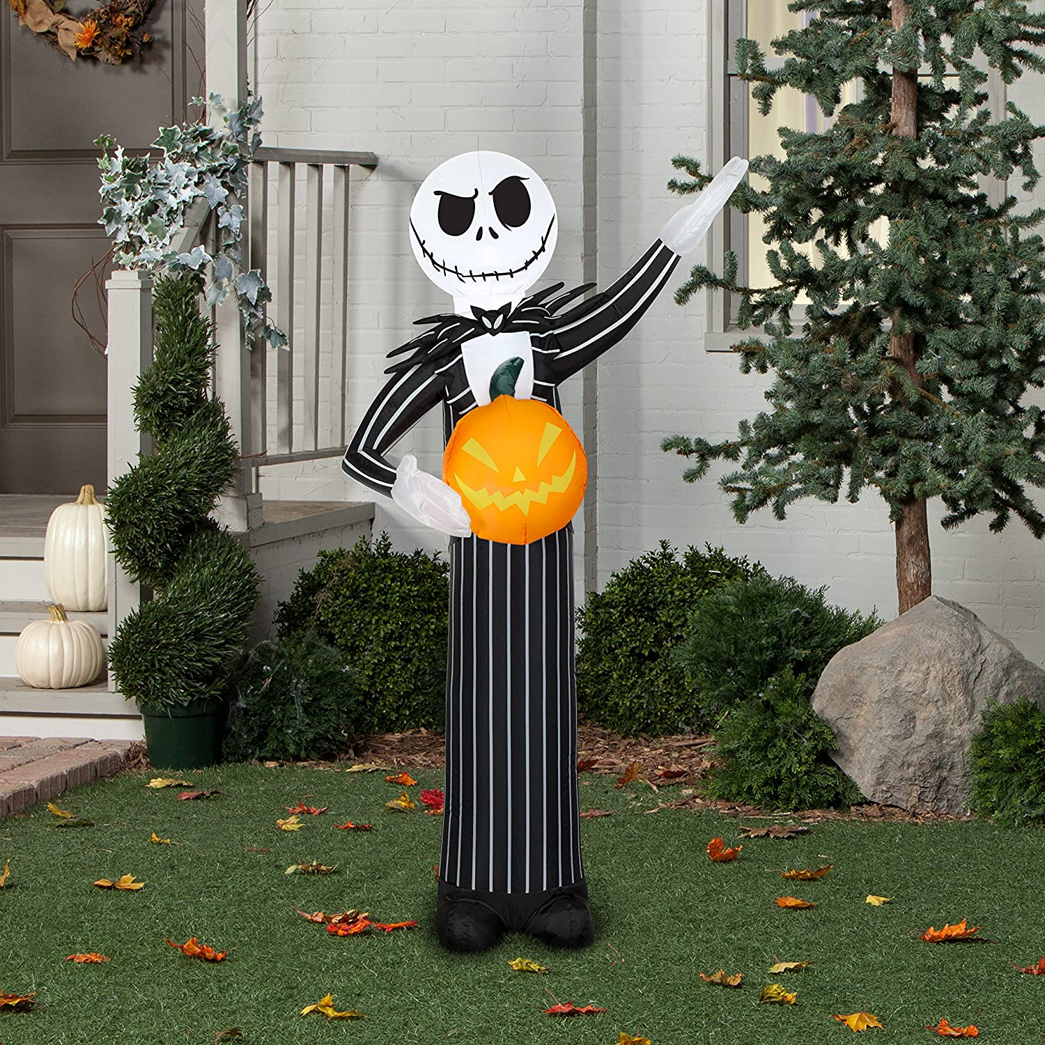 Disney Gemmy Nightmare Before Christmas Jack Skellington Halloween Inflatable 5 Feet Tall