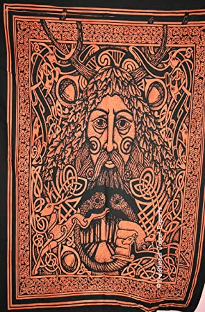 Amazonde Traditional Jaipur Tie Dye Celtic Mann Gesicht Wand Kunst