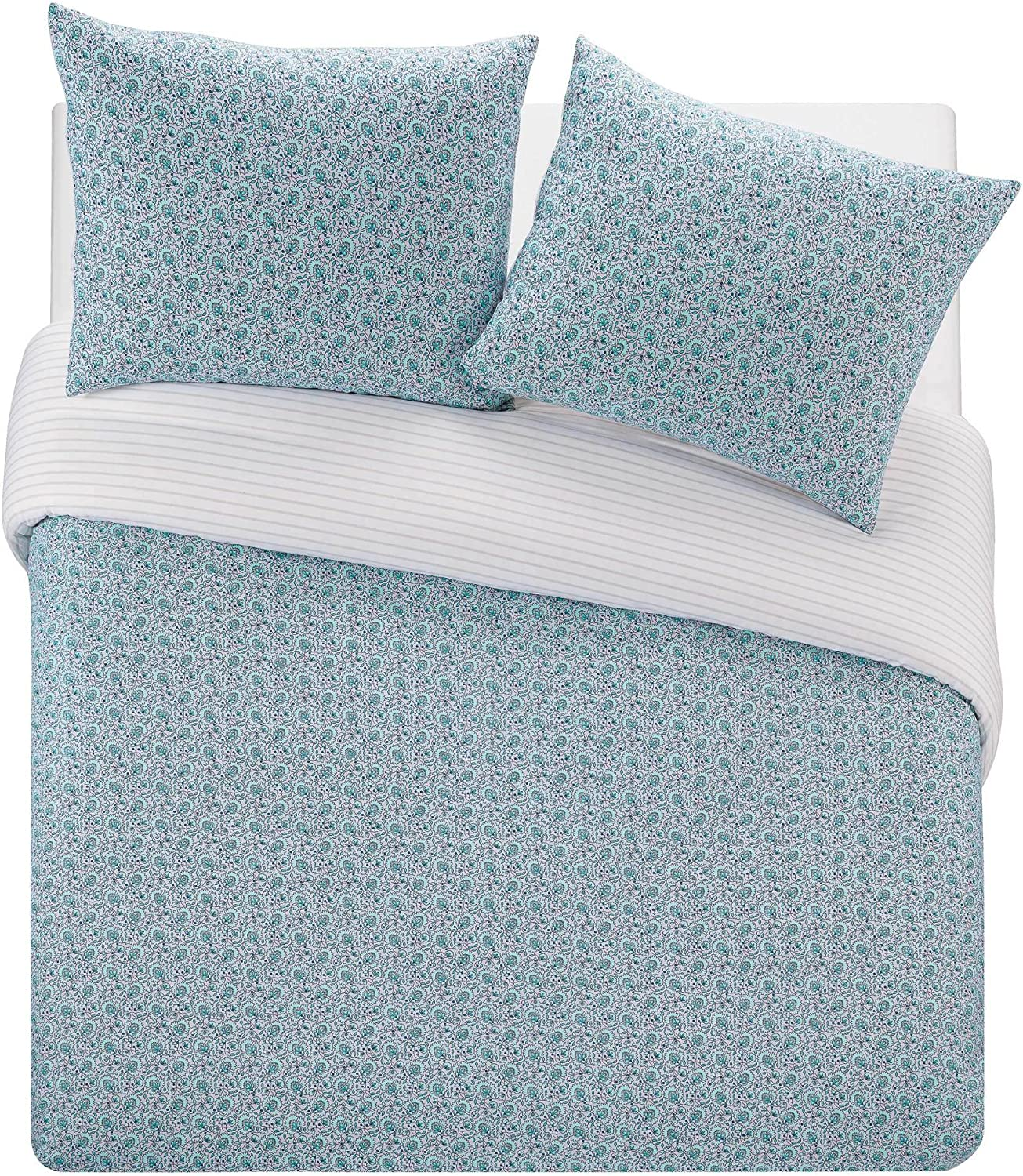 WestPoint Home Tansley Duvet Cover Set, Full/Queen, Blue 3 Piece