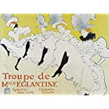 ADVERTISING THEATRE STAGE CABARET CANCAN EGLANTINE TROUPE LAUTREC FRANCE 30X40 CMS FINE ART PRINT ART POSTER BB7645