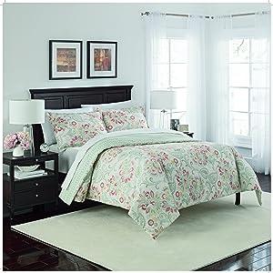 Marble Hill Carlisle Reversible Comforter Set, King, Basil
