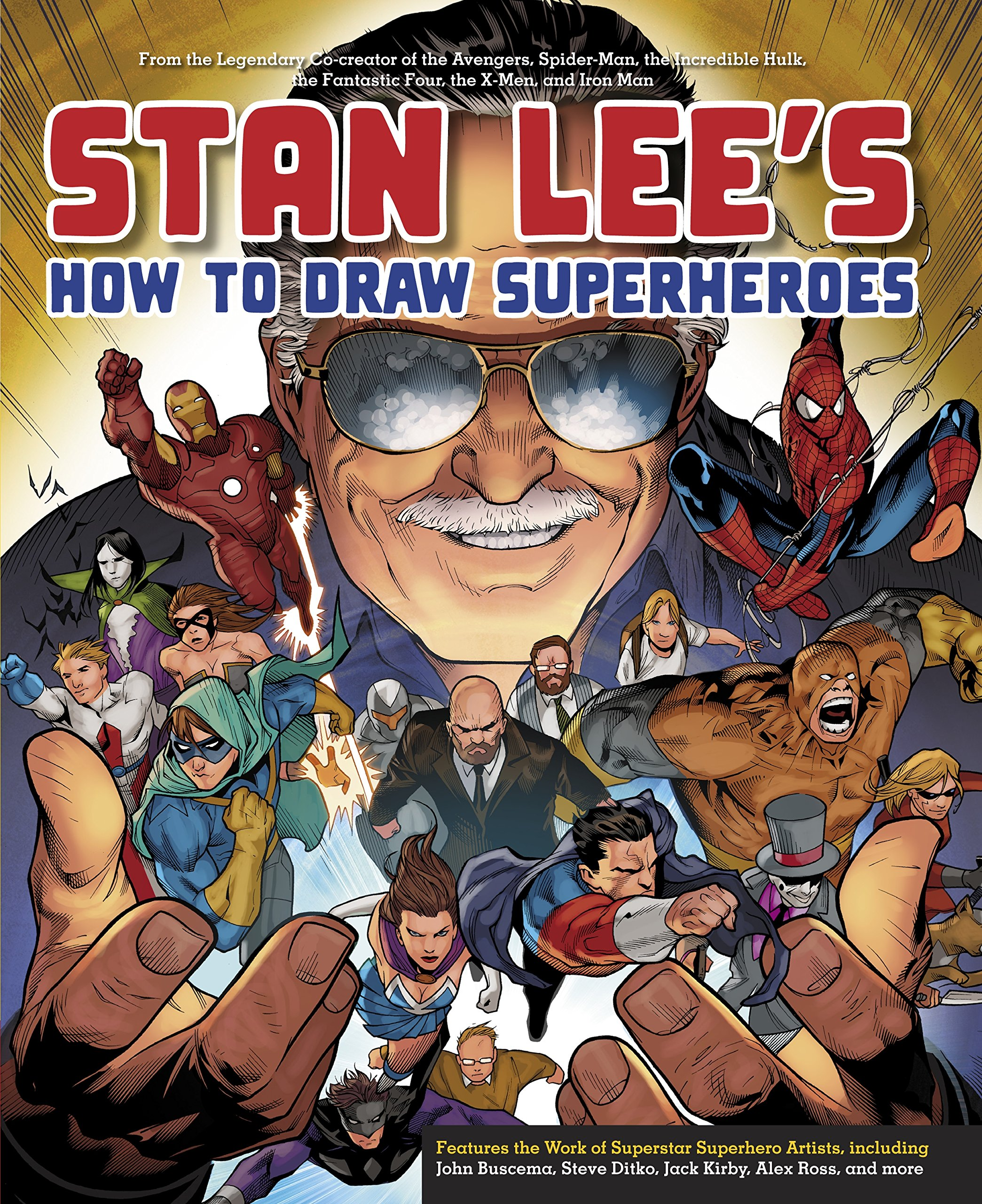 Stan Lees How To Draw Superheroes From The Legendary Cocreator - Superheroes re imagined as if they were sponsored by big brands