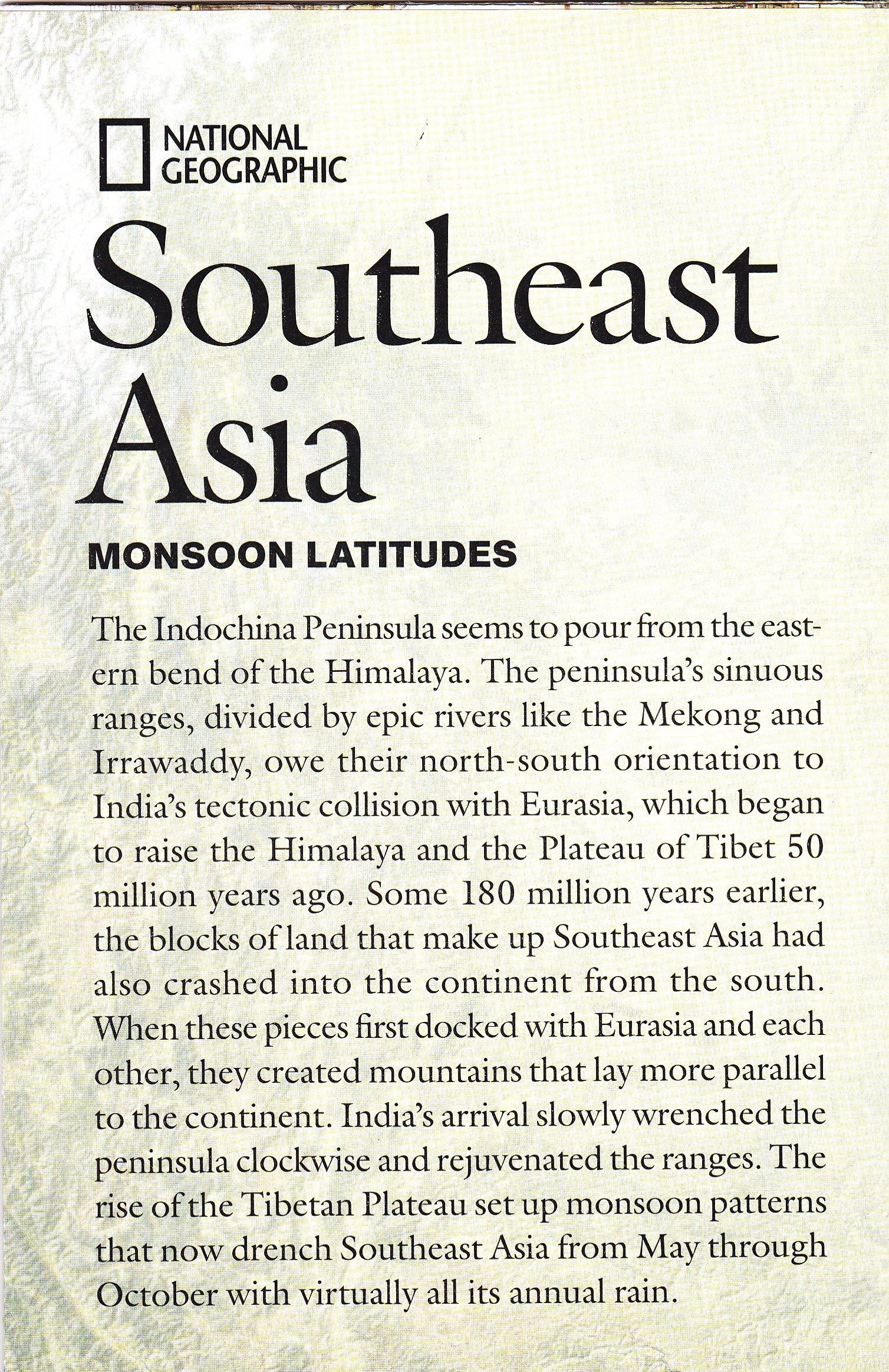Read Online National Geographic Map - Southeast Asia/Monsoon Latitudes, July 2009 pdf epub