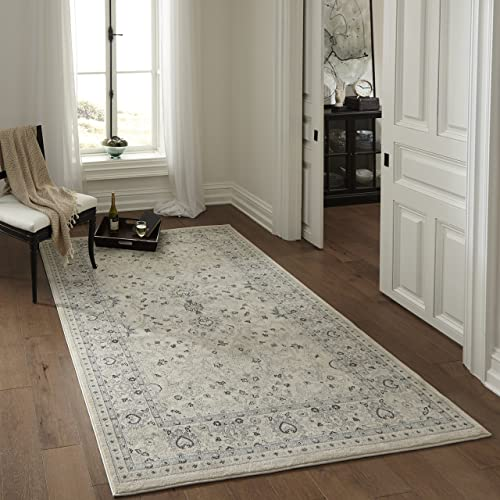 Momeni Rugs Ziegler Collection, Traditional Area Rug, 2 x 3 , Ivory